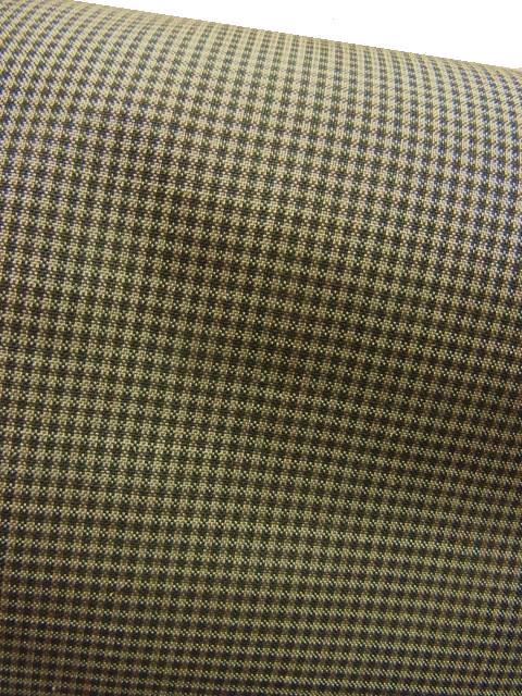 椎木染と山藍染の糸の小格子