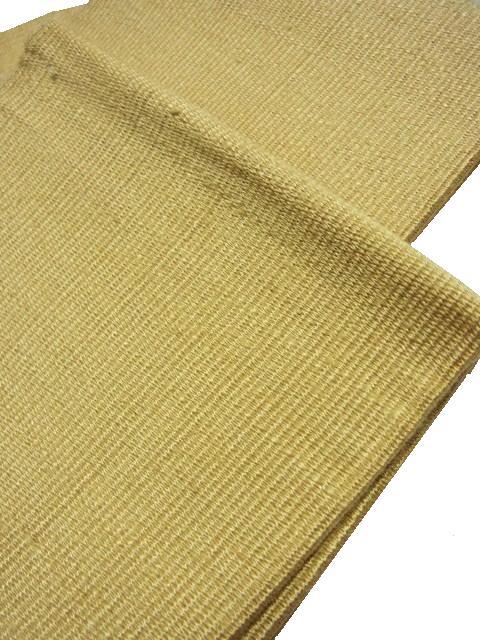 座繰糸を使用した手機綴れ織りの無地(ベージュ金茶色)