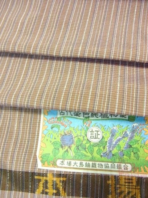 経糸は数種類の草木染糸使用 反巾1尺4分