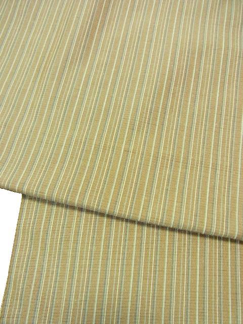 緯糸に槐や刈安染糸使用 反巾1尺6分男物
