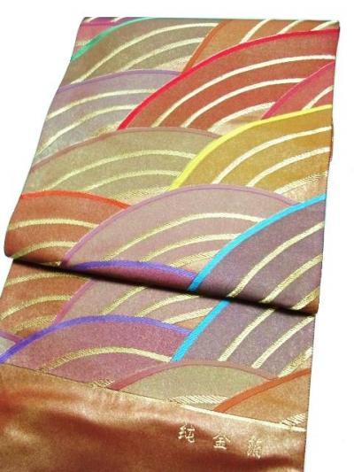 幸美織物 純金本引箔手織り袋帯