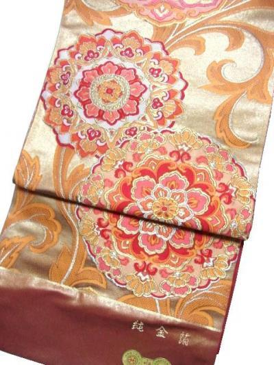 幸美織物 純金本引箔手織袋帯
