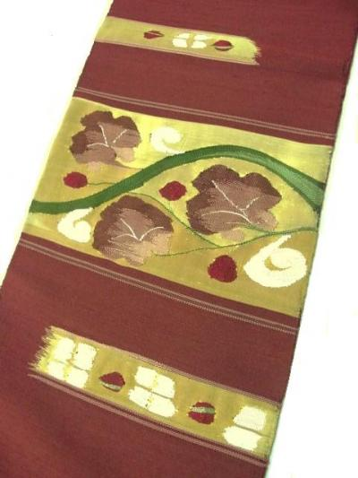 西陣の手機スクイ綴れ織袋帯