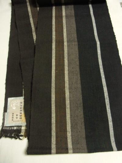 本場結城紬 高機織広幅角帯
