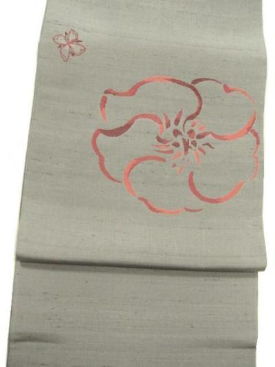 手機掬い織 玉繭糸袋帯